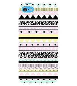 Multicolor Pattern 3D Hard Polycarbonate Designer Back Case Cover for Apple iPod Touch 6 (6th Generation)