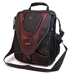 Mobile Edge Mini Messenger Bag- 9-Inch-13.3-Inch fits all iPad generations including iPad4 (Black/Red)