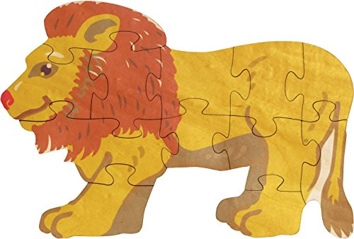 Lion Shaped Puzzle - Made in USA