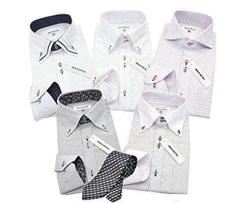 (メンズ バツ) MEN'S BA-TSU bg 5枚 タイ1本セット ワイシャツ LL-スマート yシャツ 長袖 ビジネス 形態安定 白 メンズ