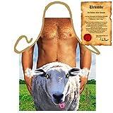 Sexy Grillschürze ! Top Scherzartikel zum Geburtstag, für Partys, Karneval,...: Happy Schaf !! GRATIS Urkunde dabei !!