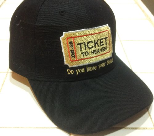 Ticket to Heaven Christian Baseball Cap, Black Hat I Love Jesus John 3:16 (Ticket To Heaven Clothing compare prices)