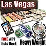 500 Las Vegas Poker Chip Set with Free WPT Rule Book. 14 Gram Heavy Weighted Poker Chips.