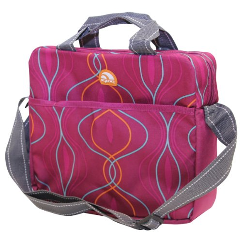 "Igloo Cross Body Insulated Flexible Cooler (10"" X 11"" X 3"") - Pink Swirl front-690679"
