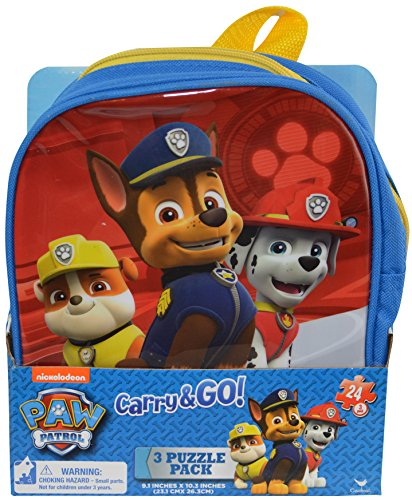 Paw Patrol 3 Puzzle Set; Carry & Go Backpack