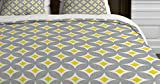 DENY Designs Holli Zollinger Diamond Circles Yellow Duvet Cover, King