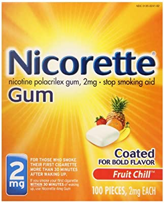 Nicorette Nicotine Polacrilex Gum, 2mg Stop Smoking Aid Gum