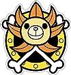 【新柄】『ONE PIECE』(ワンピース) ダイカットポストカード/サニー号
