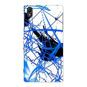 Gorgeous Blue Splasher Print Back Case Cover for Sony Xperia Z1