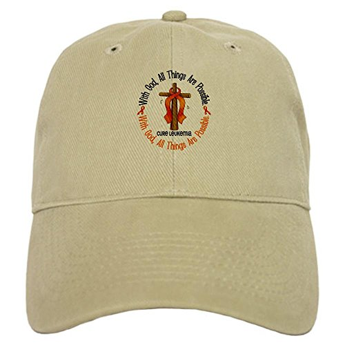 CafePress With God Cross Leukemia Cap - Standard Khaki