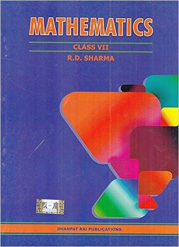 R.D. Sharma Book Mathematics for Class 7 - NCERT Syllabus-