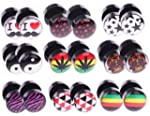 18 Pieces Lot Fake Plugs Logo Fake Ga...