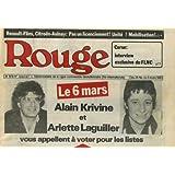 Rouge hebdomadaire - 1er semestre 1983 - lot de 23 numéros - du n° 1044 (31-12-1982) au n° 1069 (24-06-83) sauf...