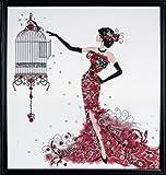 """""""Cage d'oiseau"""" kit point de croix..."""