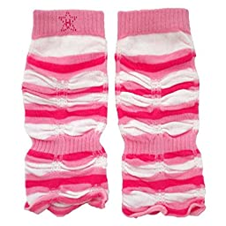 Huggalugs Baby Girls Pink Striped Jubilee Legruffles Legwarmers Infant