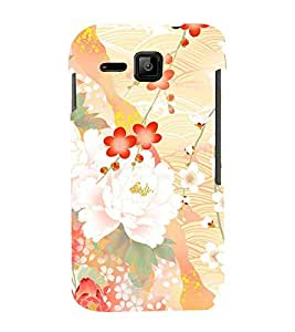 Floral Abstract Design 3D Hard Polycarbonate Designer Back Case Cover for Micromax Bolt S301