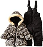 Pink Platinum Infant Girl 12-24M Black Cheetah Print Promo Snowsuit 2Pc Set