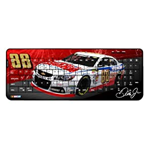 NASCAR Dale Earnhardt Jr 88 National Guard Wireless USB Keyboard