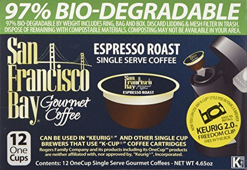 SAN FRANCISCO BAY ESPRESSO ROAST 24 ONE CUPS for Keurig K-Cup Brewers (San Francisco Bay Espresso Roast compare prices)