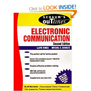 Schaum's Outline of Electronic Communication Lloyd Temes