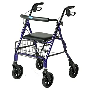 Invacare Lightweight Rollator with 7.5 Inch Wheels Ergonomic Hand-brakes, Blue