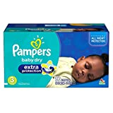 Pampers Baby Dry Extra Protection Diapers Super Pack, Size 3, 92 Count (Packaging May Vary)
