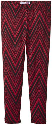 Derek Heart Big Girls' Printed Yummy Leggings, Red Cheeks/True Black, Small/7/8