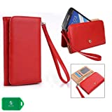 Blu Life Pure WALLET WRISTLET PHONE HOLDER - RED - UNIVERSAL