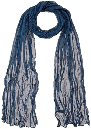 PASSIGATTI Damen Schal 63843, Gr. one size, Blau (marine 4)