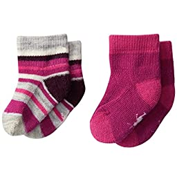 SmartWool Bootie Batch - 2-Pack - Infants\' Berry/Berry, 6M