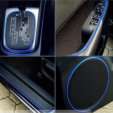 1 mètre Flexible voiture décoratifs Neon Light 4mm EL Wire Rope avec inverseur de voiture de lumière , Purple