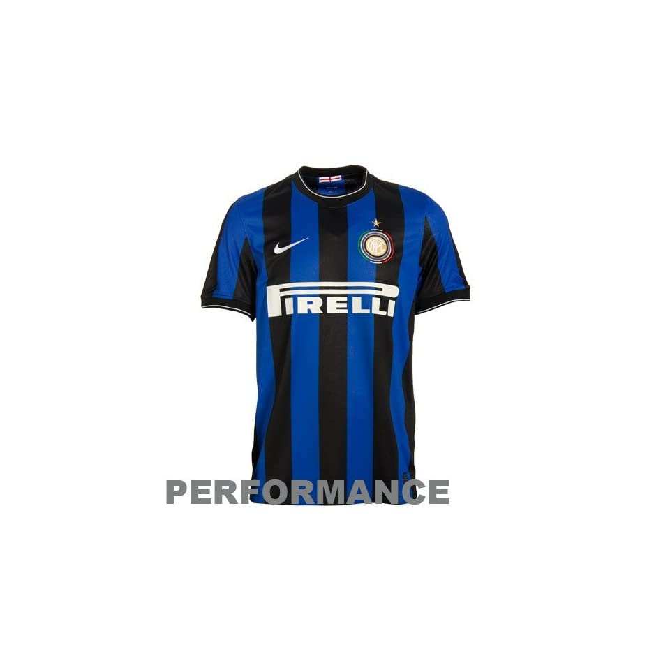 08540c0a3 Nike Inter Milan Royal Blue Black Striped Home Performance Soccer Jersey