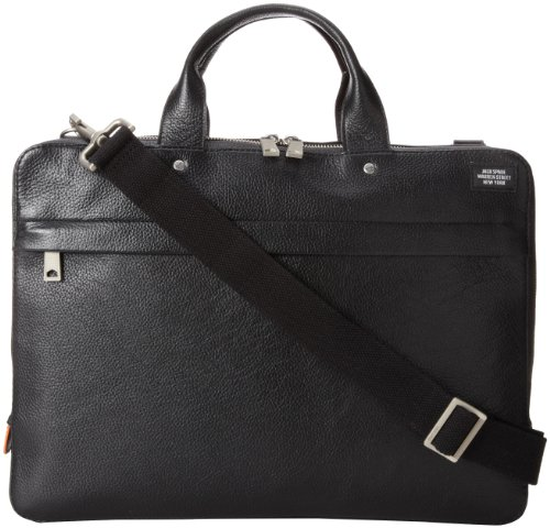Jack Spade Mason Leather Slim Brief Briefcase Black One Size (Jack Of Spades compare prices)