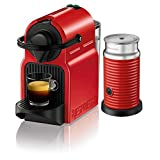 Nespresso Inissia Red With Milk Frother Coffee Capsule Machine by KRUPS