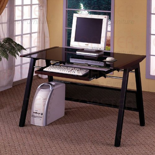 Buy Low Price Comfortable Dark Walnut Computer Desk (B003XR6AFQ)