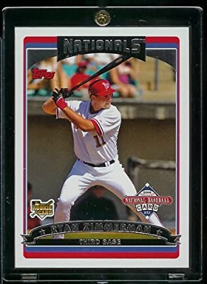 2006 Topps Ryan Zimmerman Washington Nationals Limited Edition Baseball Rookie Card - Shipped In Protective Screwdown Display Case!