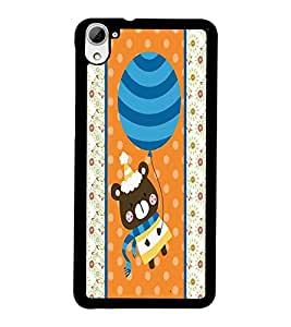 PrintDhaba Teddy D-2759 Back Case Cover for HTC DESIRE 826 (Multi-Coloured)