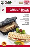 Studio Cook Grill a Bags 2 Pieces 100X Resuable for Contact Grill