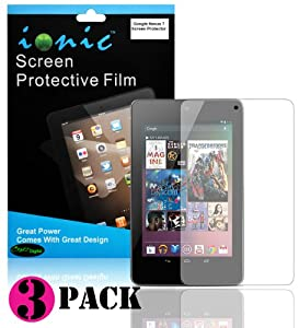 COD(TM) Screen Protector Film Clear (Invisible) for Google Nexus 7 Tablet (3-pack)