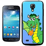 Happy Fire Breathing Green Dragon With Wings Hard Case Clip On Back Cover For Samsung Galaxy S4 Mini i9190