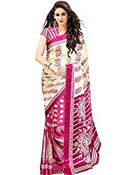 JMT Women's Cotton Silk Saree ( JMT119 _ Beige )