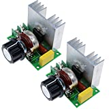 Aideepen 2pcs AC 220V 4000W SCR Voltage Regulator Dimmer Electric Motor Speed Controller Thermostat Module