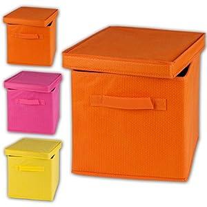 Spizy Storage Box Orange Quantity Of 4 Amazon Co Uk