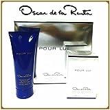 Pour Lui By Oscar De La Renta Edt 3.0 Oz & Hair &B/Wash 6.7 Oz 2 Pc Gift Set Men