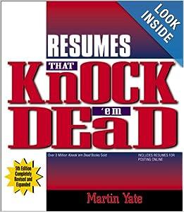 resumes that knock em dead knock em dead resumes