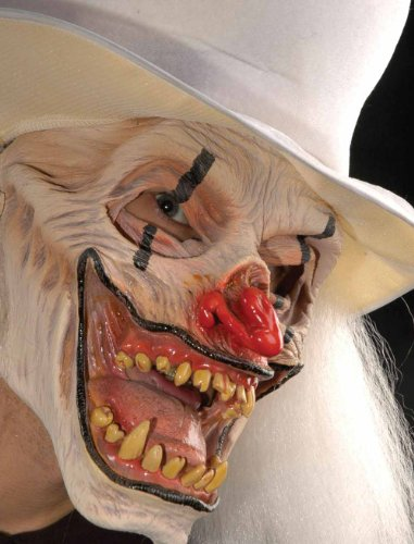 That's Not Funny White Clown Mask Adult Halloween Costume Accessory