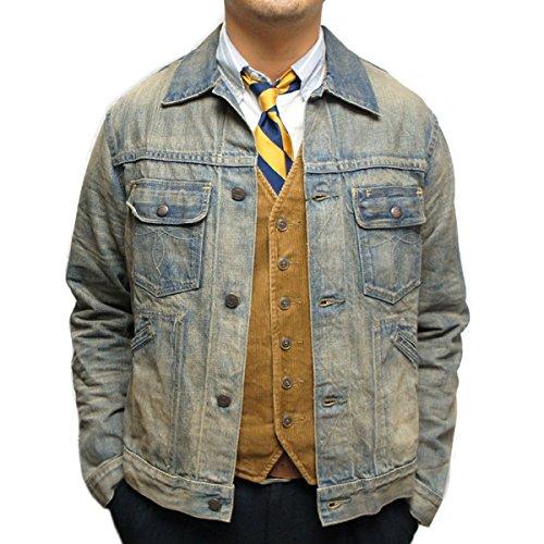 (ダブルアールエル ラルフローレン) RRL Ralph Lauren 《Roper Denim Jacket: ローパー デニムジャケット <Dusty Medium >》 [並行輸入品]