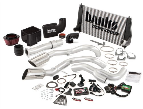 Banks Power 47795 PowerPack System; Performance System; Incl. EconoMind Tuner/Banks iQ/Banks Ram-Air Intake/Techni-Cooler Intercooler/Monster Exhaust; Duals;
