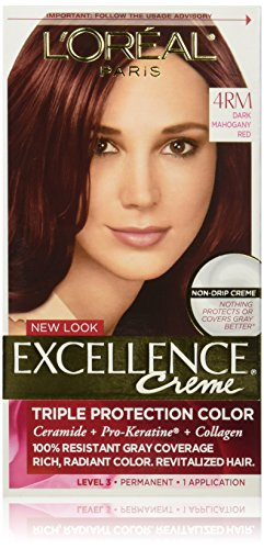 L'Oreal Paris Excellence Creme Hair Color, 4RM Dark Mahogany Red (Red Mahogany Dye compare prices)