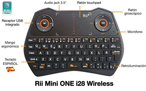 Lo más barato Mini teclado de Rii modelo Mini ONE i28 Wireless